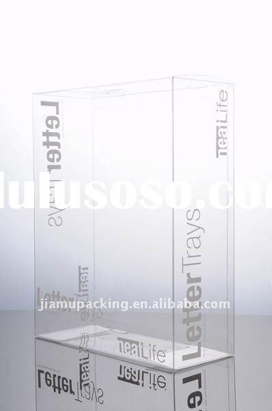 Clear plastic box for letter paper packaging