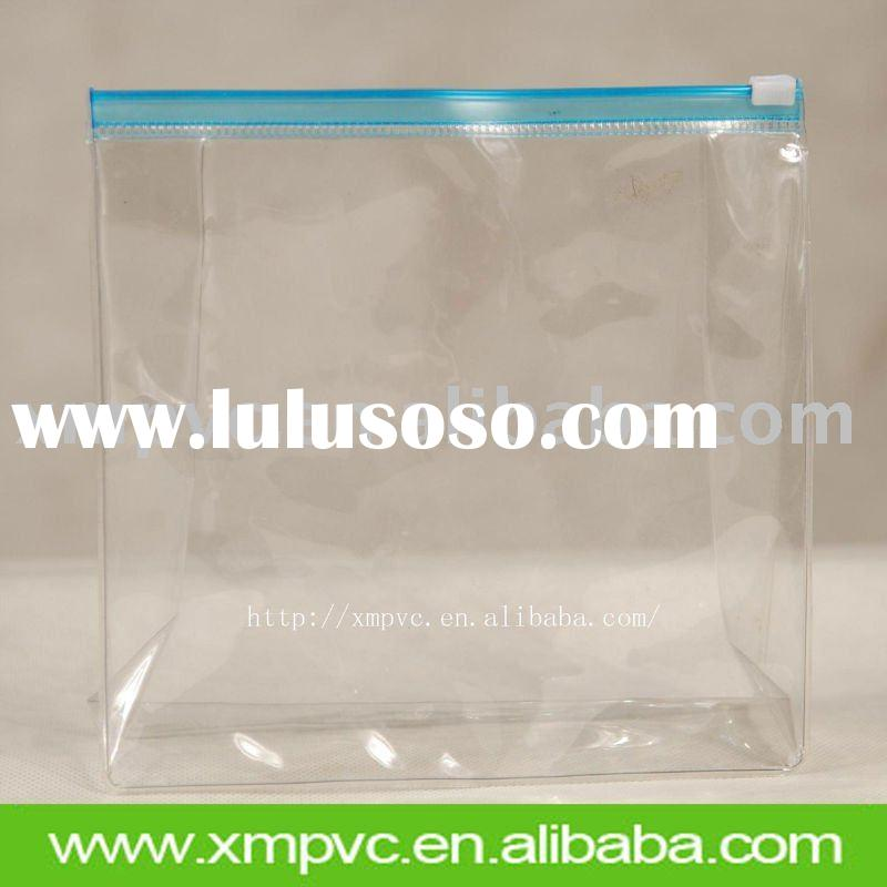 Clear pvc ziplock bag for cosmetic packing XYL-C020