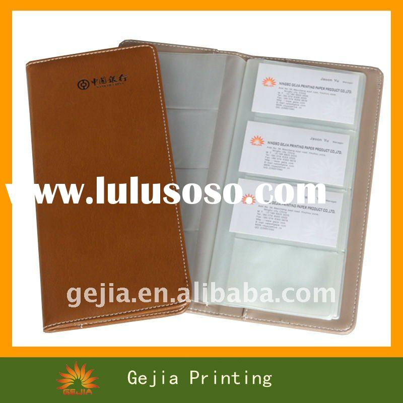 Customized multiple PU business card holder