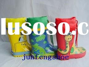 Cute Kid Footwear Fashion Children Rubber Rain Boots