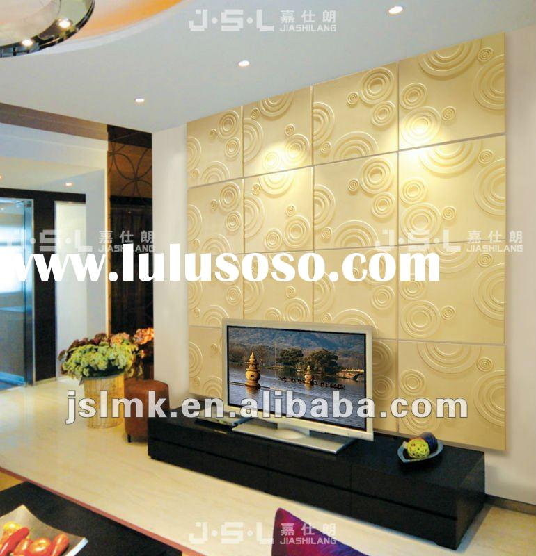 DIY interior decorative 3d PU wall panels