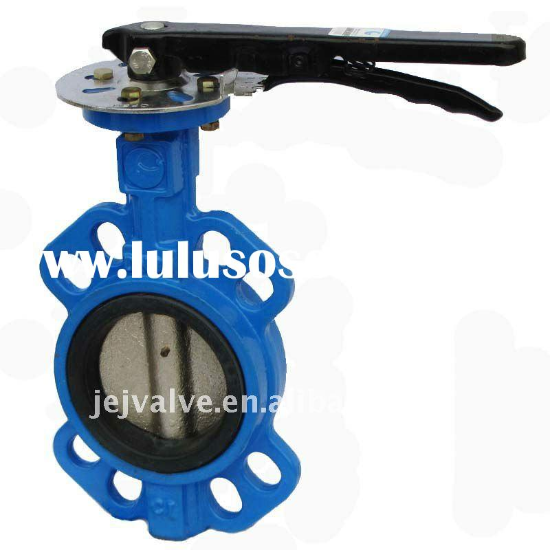 DN 80 Cast iron Wafer Industry Butterfly Valve 8 Holes