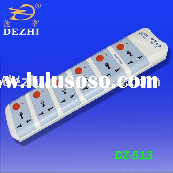 DZ-413 6-way multi-control electrical outlet(socket,electrical socket)