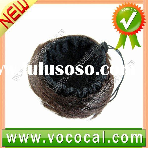 Dark Brown Chignon Bun Hairpiece Wig Extension for Ladies