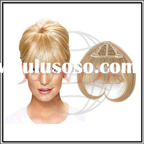 Discount synthetic heat resistant fiber Blonde Hair bangs / fringe wholesale