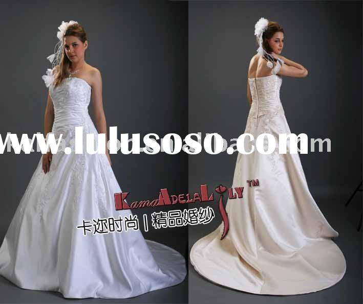 EB637 top grade satin dress wholesale and retail custom made no minimum order wedding gowns lady bri