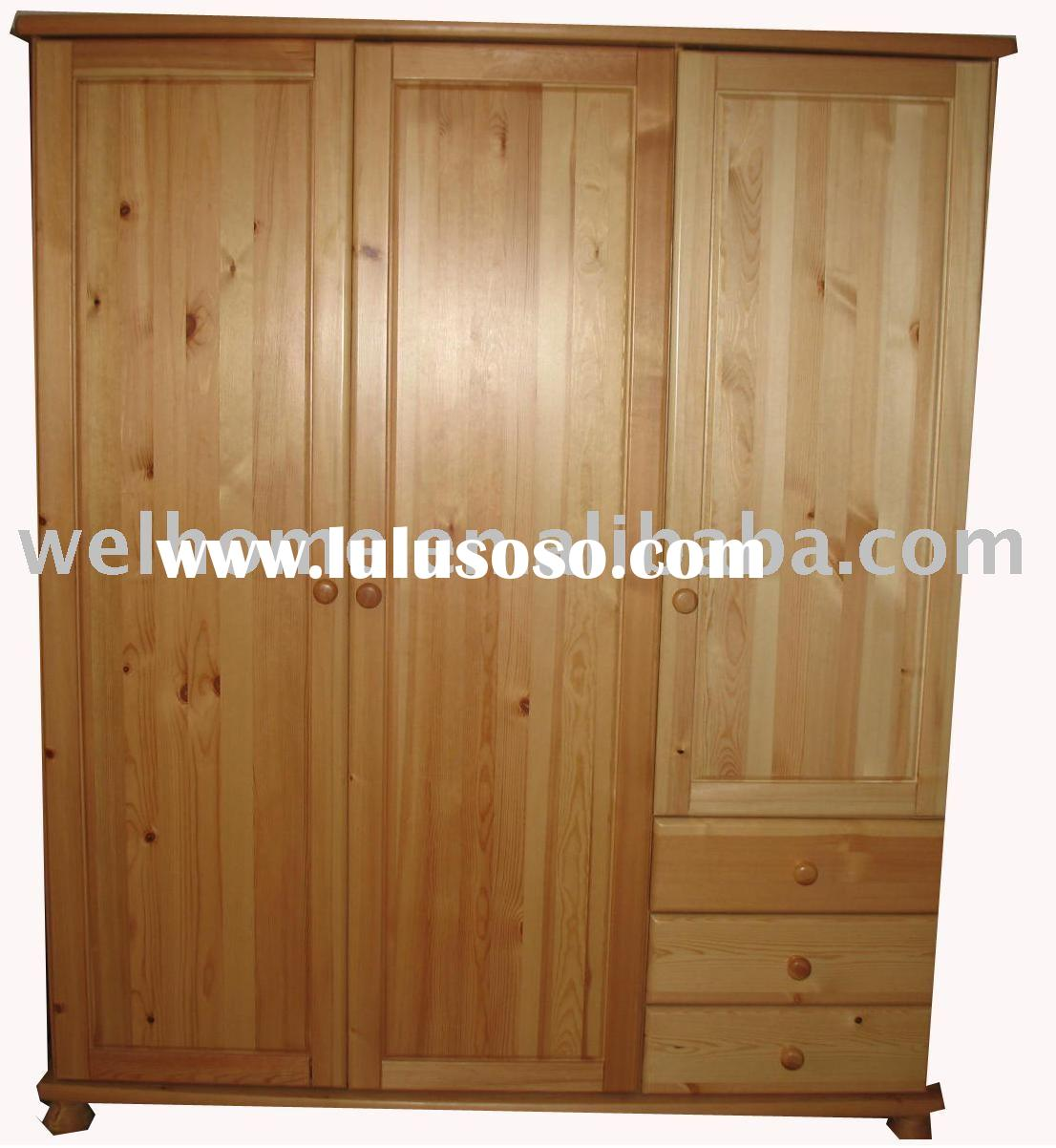F8302 Pine Wardrobe/Pine Armoire/Bedroom Furniture