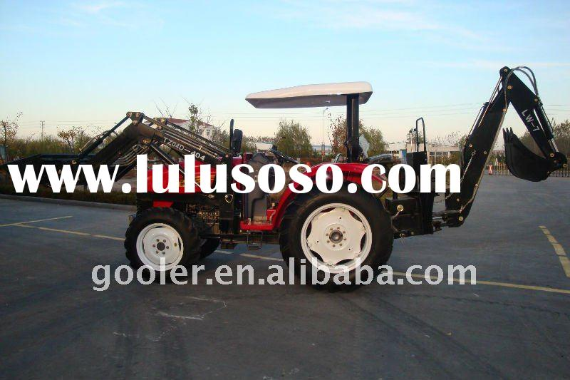 FEL Tractor, lawn tractor 40HP, 4x4, DQ404 with Front end loader, slasher mower, Backhoe, carry all,