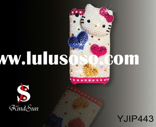 Fancy 3d hello kitty rhinestone cell phone case