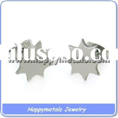 Fashion jewelry stainless steel earrings findings (E7076)