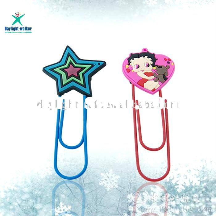 Five-pointed star Personized OEM Pvc 3D Bookmark