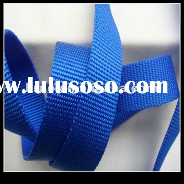 Flat nylon webbing for pet leashes and collars