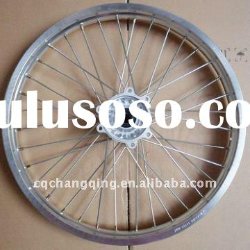 Front wheel hub assembly with alloy wheel rim
