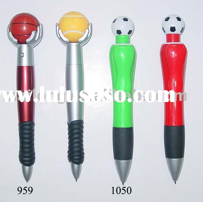 Funny ball pen top with football,basketball and so on