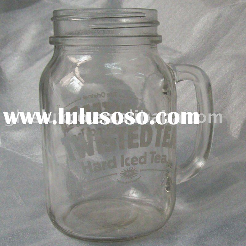 Glass Mason Jar with Decal