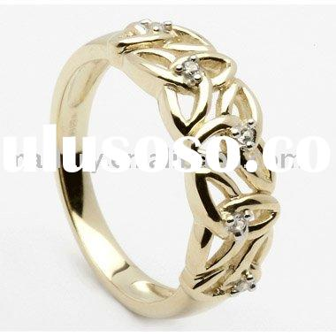 Gold Celtic Triquetra Rings