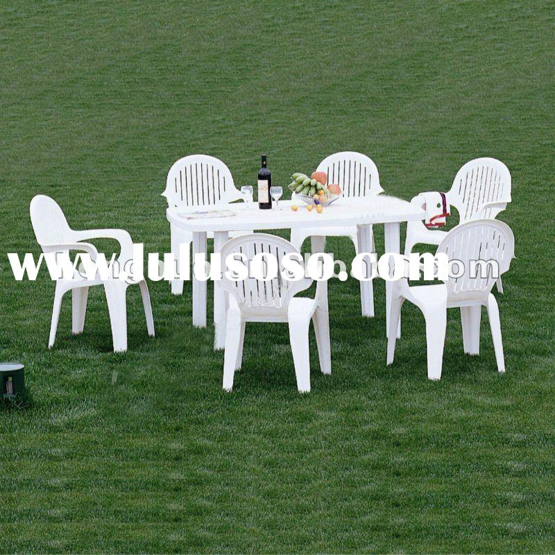 HNT328 Rectangular Dining Table,Coffee Table,Plastic Table for 6 Persons with umbrella hole