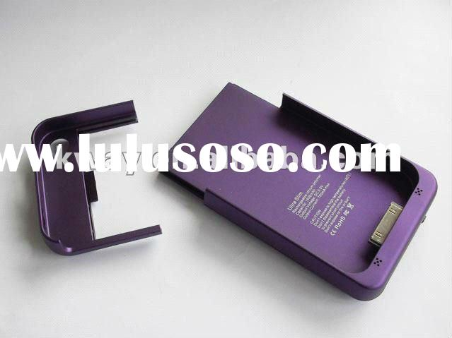HOT! 1900mAh Ultra Slim External Rechargeable Battery Case Emergency Power Charger for iPhone 4 4S 4