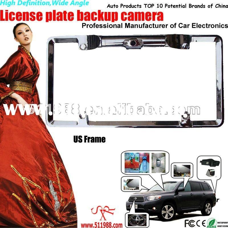 High Definition Wide Angle US Frame wireless license plate car camera