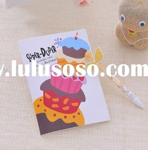High Quality 12 Seconds Voice Recording Greetings Cards Happy Birthday Design- Five Layers Face Cake