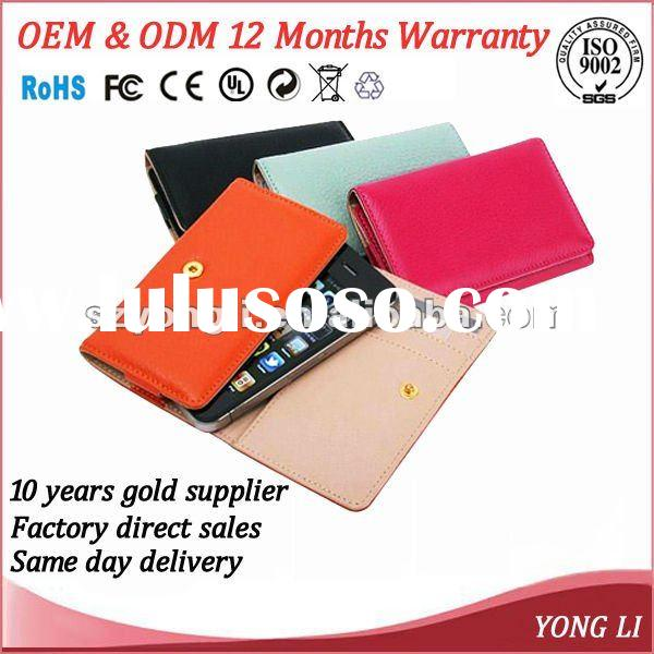 High quality and brand new universal wallet leather case for all mobile phone