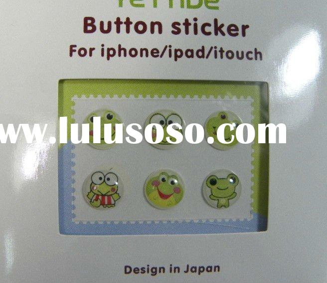 Home Button Sticker for ipad 2 iPhone 4 itouch 6pcs