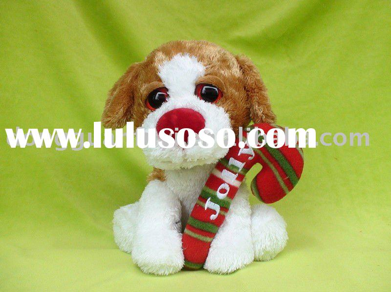 Jolly stuffed plush dog toys with big eyes