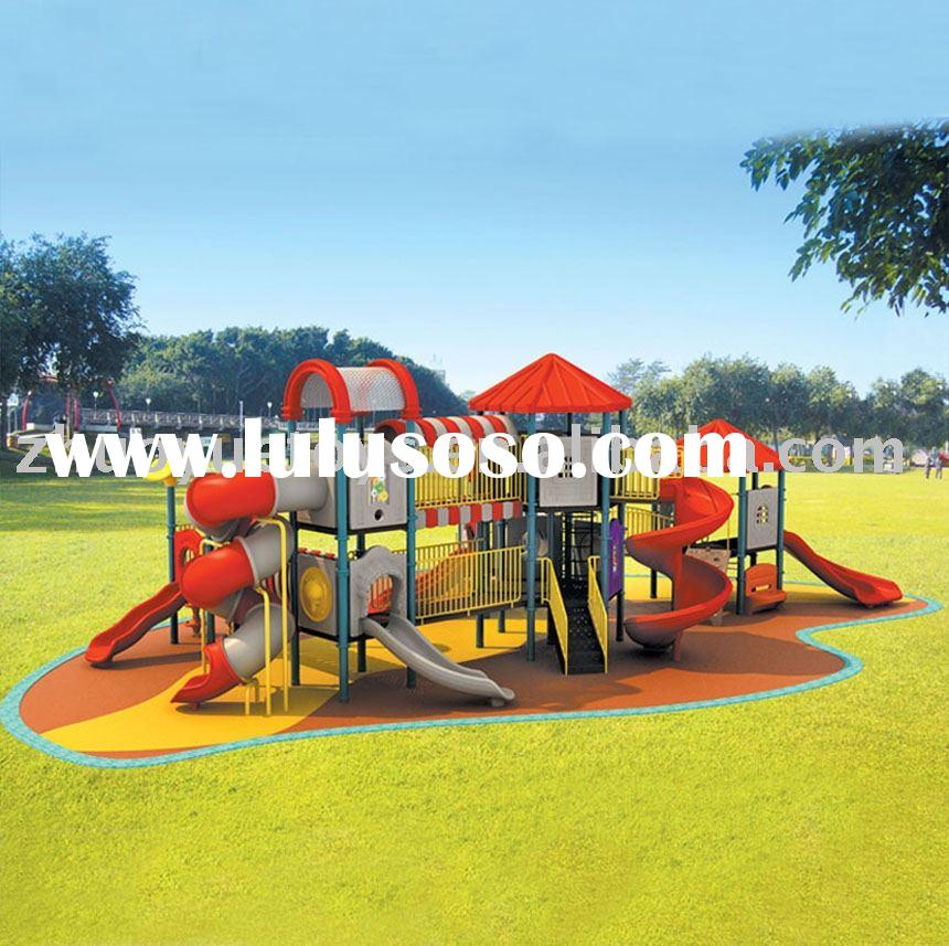 KIds' plastic slide conbination playground