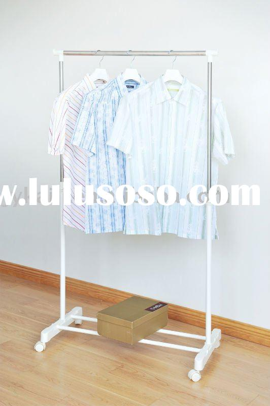 KL-0201B Single-pole Stainless steel clad pipe clotheshorse, drying rack, laundry rack, airer, foldi