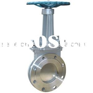 Knife gate valve(Cast steel/Stainless steel gate valve)