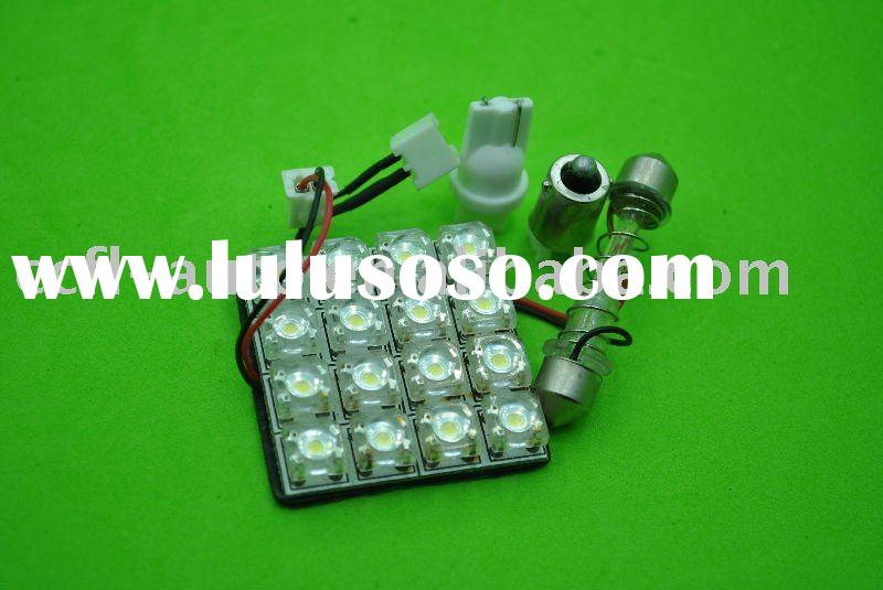 LED panel light, dome light 16 pieces Piranha LED and sockets for selection. Car LED bulb