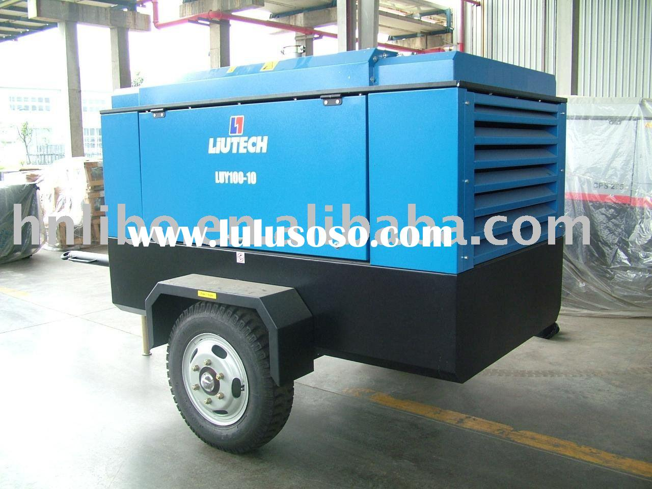 LIUTECH- LUY100-12 - 353cfm 12bar diesel engine driven skid mounted air compressor -ATLAS COPCO seri