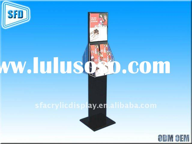 Literature Display Stand With Sign Holder and Adjustable Pockets 2 sided ( SF-LI-9 )