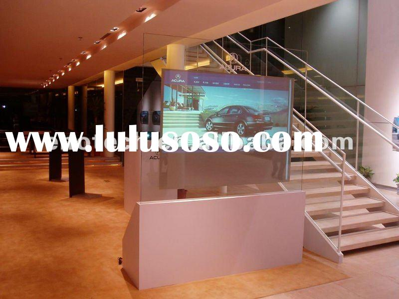 Low price of adhesive clear transparent rear projection screen/holographic rear projection for adver