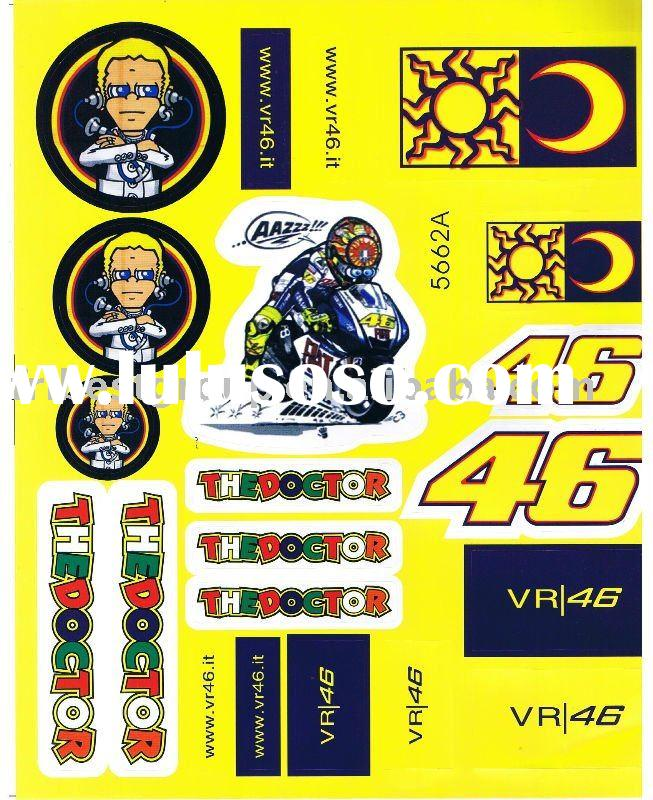 Motorcycle stickers decals for ROSSI THEDOCTOR