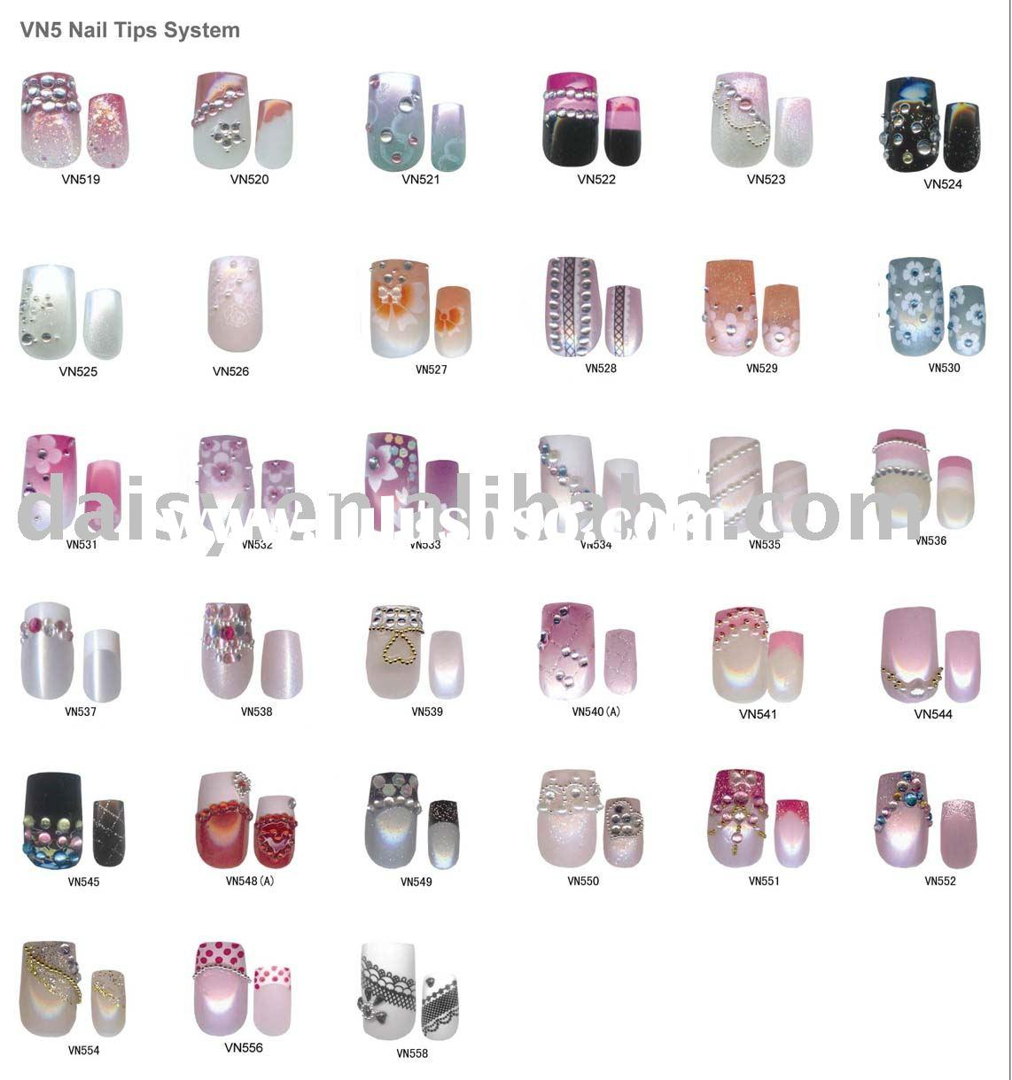Nail Art, Nail Tip, Designed Nail Tips