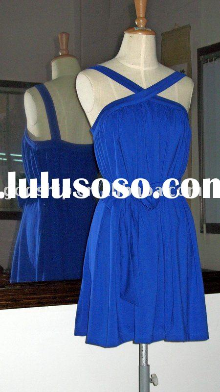 New Style Royal Blue Color Fashion Dress For Ladies Dress Prom Gowns 002