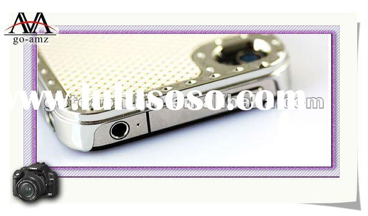 Newest design mobile phone case for iphone 4g,phone skin electroplating cover