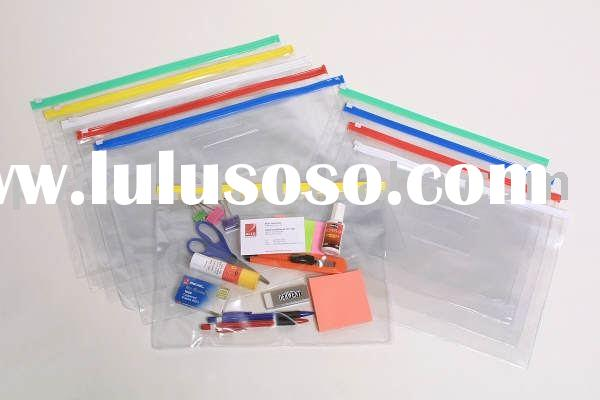 PVC Plastic Bag with zipper closure