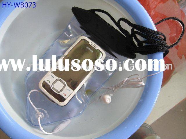 PVC waterproof mobile phone bag/case/pouch with headphone