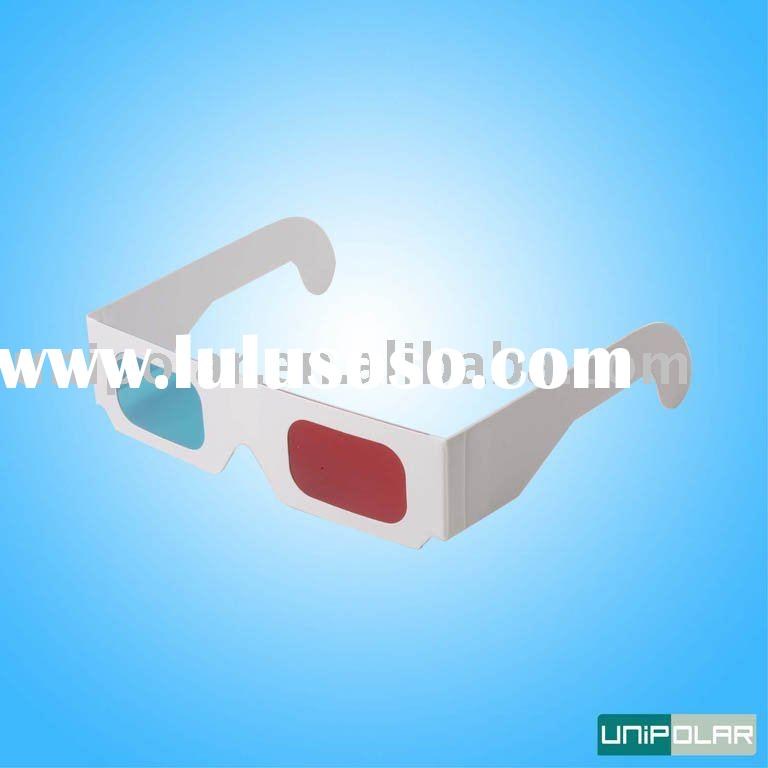Paper red blue 3d glasses 3d lens for 3d book