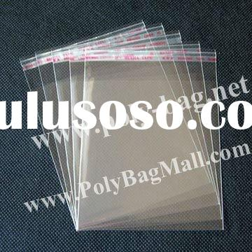 Plastic Bag Printing for packing bracelet in size 14x19.5cm with self adhesive seal with slip cover