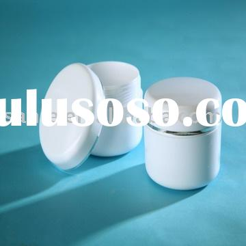 Plastic Cream Jar of 3.5 oz.(100ml) Double Wall shape in white color and PS material for cosmetic