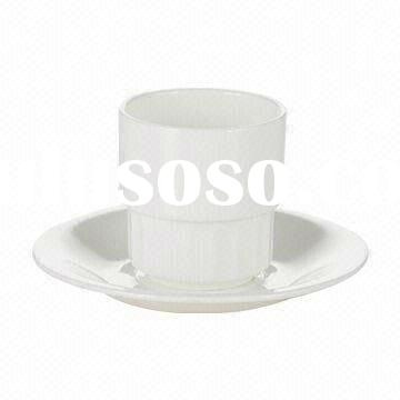 Porcelain Tea Cup and Saucer, Customized Shapes and Designs are Welcome, Suitable for Restaurant