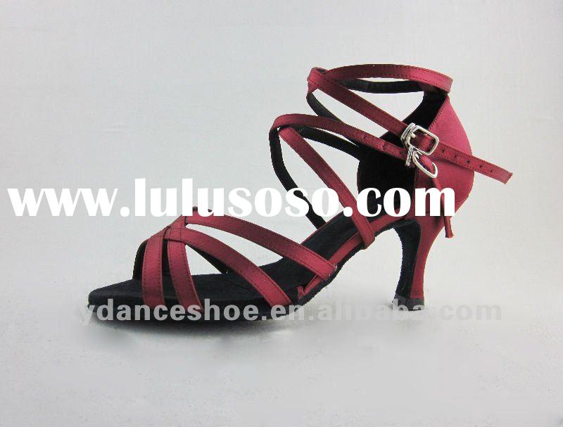 Red rain ballroom latin dancing shoes
