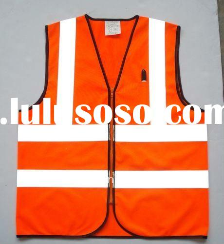 Reflective Safety Vest European Style with zipper