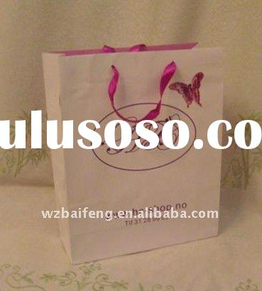 Ribbon Handle Paper Gift Bag Series(for shoping promotion)