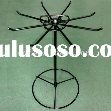 Rotating Metal Wire Counter Hook Display Stand with Sign Holder