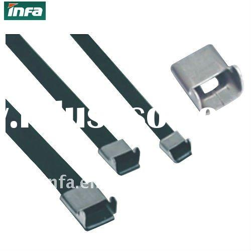 SGS 304 PVC coated stainless steel cable ties