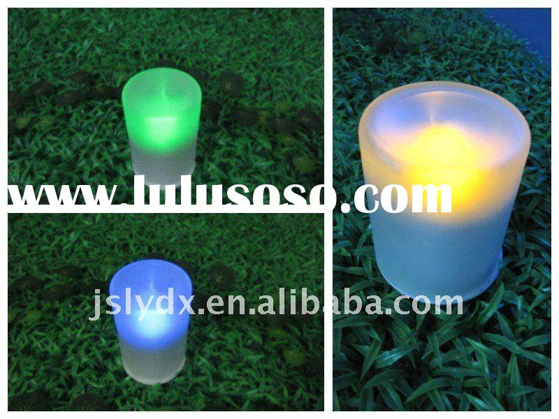 Solar Glass LED Candle Light LED solar light